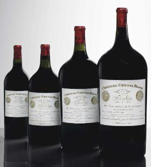Chateau Cheval Blanc 1947 Magnum, Marie-Jeanne, Double Magnum and Imperial
