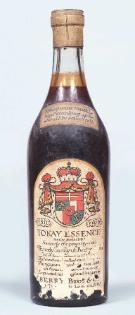 Tokay Essence 1811, bottled about 1840. Formerly the property of the Princely Family of Bretzenheim